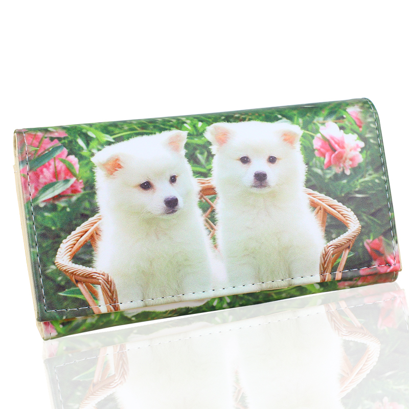 TONUOX Women Wallets Cute Dogs Animal Pattern Casual Lady Coin Purse Pocket Handbags Long Moneybags Wallet Pouch Dog Purses Bags airhole маска airhole airtube ergo check