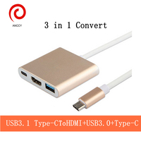 USB 3 1 Type C To HDMI USB 3 0 USB C Type C HUB Converter