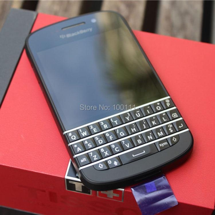 """Цена за Blackberry Q10 Мобильный Телефон с Оригинальный и разблокирована 3.1 """"Dual Core 8MP 2 ГБ + 16 ГБ WI FI русский keybord пон, бесплатная доставка"""