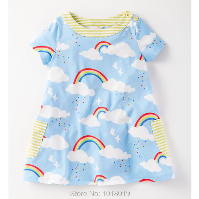 New 2018 Brand Quality 100% Cotton Baby Girls Dresses Summer Kids Clothing Children Clothes Short Sleeve Casual Dress Baby Girls girls dresses 2017 kids summer dresses for girls clothes short sleeve 100