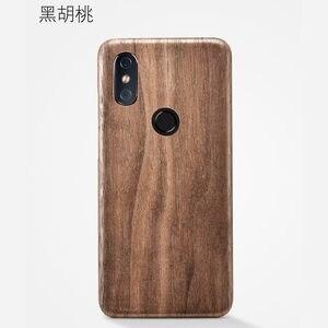Image 3 - Caixa do telefone de madeira natural para xiao mi 8 caso capa de madeira de gelo preto, romã madeira, noz, rosewood para mi 8 pro