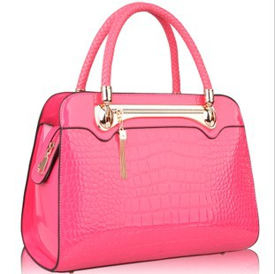ФОТО Free shipping Women's handbag female 2013 new arrival japanned leather crocodile pattern messenger bag fashion handbag women's