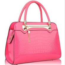 Free shipping Women's handbag female 2013 new arrival japanned leather crocodile pattern messenger bag fashion handbag women's