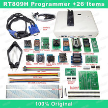 RT809H EMMC-Nand FLASH Programmer +26 Iterms With Cables EMMC-Nand Free shipping(China)