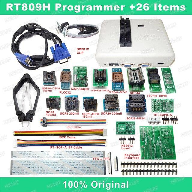 RT809H EMMC Nand Programmierer + 26 Iterms Mit Kabel EMMC Nand Freies verschiffen
