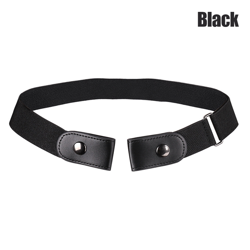 Buckle Free Stretchable Lazy Belt Elastic Waist Belt Invisible For Jeans Pant Dress -MX8