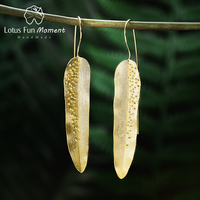 Lotus Fun Moment Real 925 Sterling Silver Fashion Jewelry Creative Design Dewdrops On Willow Leaves Dangle Earrings Brinco
