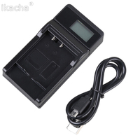 Tüketici Elektroniği'ten Kamera Şarj Cihazı'de PS BLM1 LCD USB kablosu Şarj BLM1 Olympus E 520 E 510 E 500 E 5 E 3 Kamera Pil