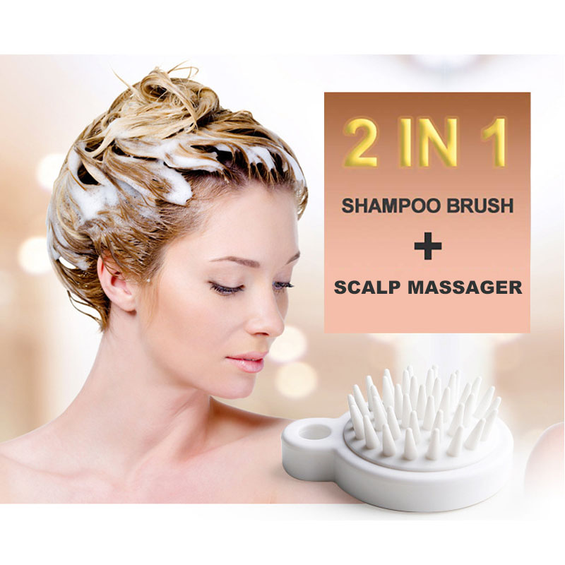 GOALONE Silicone Shampoo Brush Hair Washing Comb Scalp Massage Brush Spa Slimming Massage Scrubber Soft Shampoo Massage Brushes in Bath Brushes Sponges Scrubbers from Home Garden