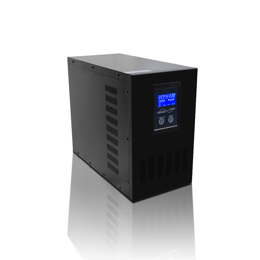 Intelligent LCD display pure sine wave 4000W smart line interactive 5KVA 5000VA UPS Inverter 2kva 2000va 1600w smart lcd display pure sine wave line interactive ups industrial power supply