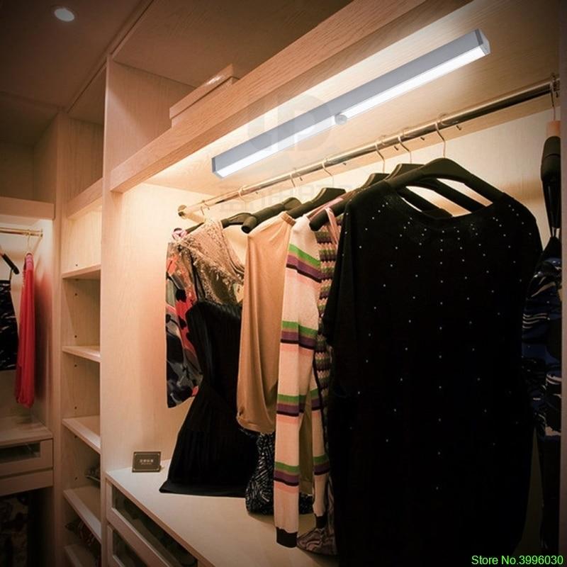 Fashion Motion Sensor Closet Light 20 LED Wireless Activated Night Light  Under Cabinet Lighting Panty Lamp Battery Operated