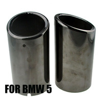 for B MW 5 Series Double Outlet Car Exhaust Muffler Pipe Tail Tip Modified stainless steel Exhaust System