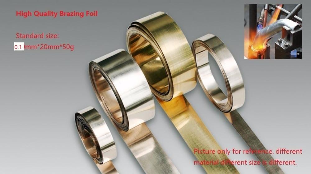 Brazing Foil Soldering Sheet Silver Based Braze Welding Plate AWS A5 8 BAg 7 0 1mmx20mm