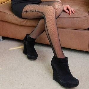 Image 5 - Makuluya Super Warm Thickening Velvet Winter Leggings Grid Flower  Similar Skin Women Leggings High Waist Sex Leg Leggings QW