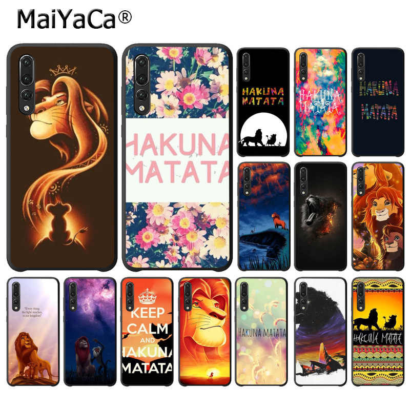 MaiYaCa Hakuna Matata Lion King TPU Soft Black Phone Case for Huawei P10 plus 20 pro P20 lite mate9 10 lite honor 10 view10