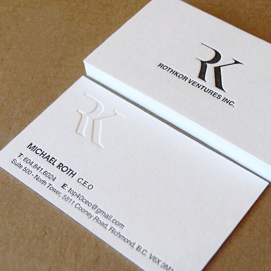 letterpress 600gsm business cards custom silver golden foil thick ...