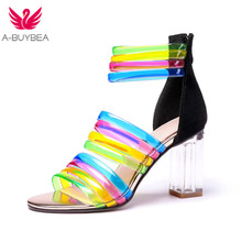 Plus Size 43 New Sexy Women High Heels Summer Sandals Fashion Brand Colorful Party Wedding Shoes Women Sexy Peep Toe Prom Pumps padegao women sandals 2017 fashion high heels wedding party shoes for women lady sandals plus size pu snake peep toe zipper