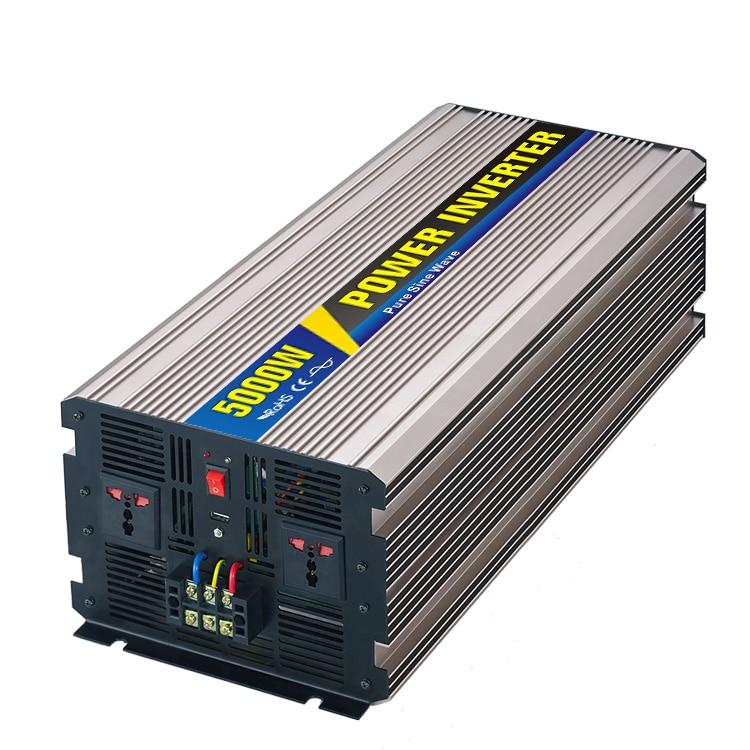 MAYLAR@ Real power 5000W Car Power Inverter Converter DC 48V to AC 110V or 220V Pure Sine Wave Peak 5000W Power Solar inverters