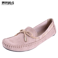Wegogo Women Flats Casual Bowtie Loafers Sweet Candy Colors Solid Summer Ballet Shoes Woman Moccasins Female