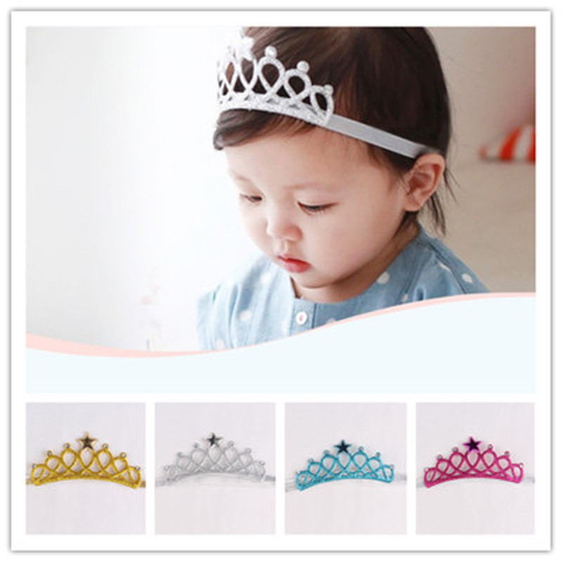 New Arrival Glittering Crown Headband Girls Hair Band Head Wrape Hair Accessories Princess Tiara Headband Kids   Headwear