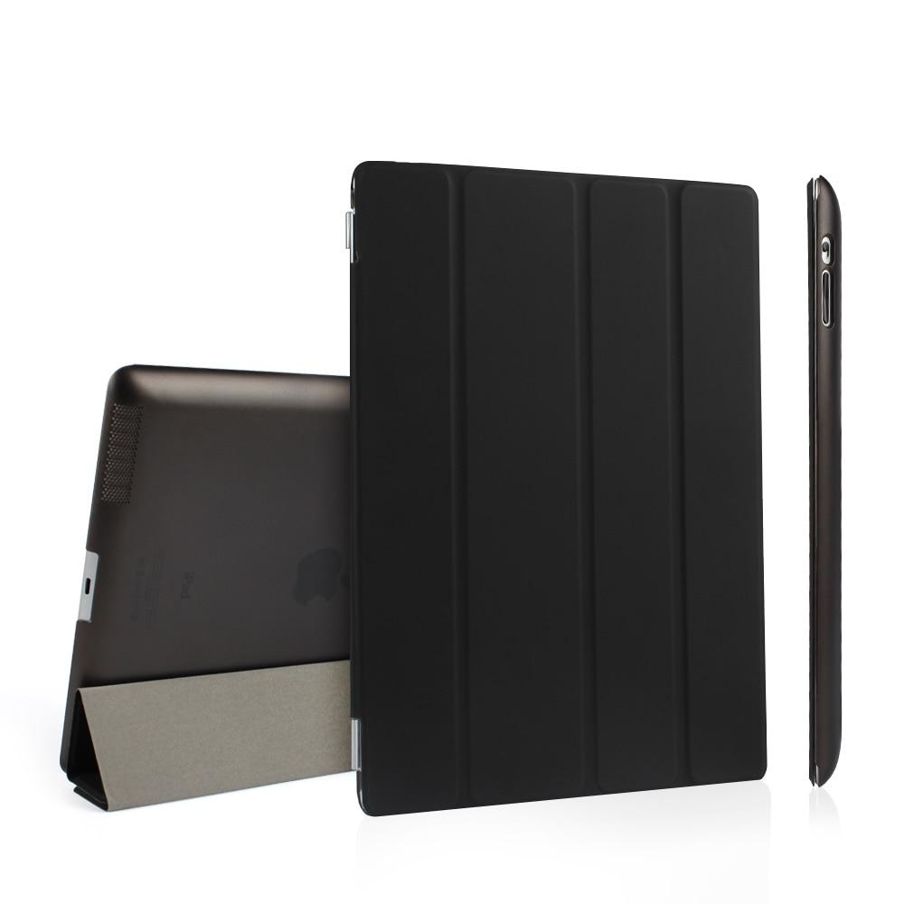 Batianda Ultra Thin PU Leather Slim Magnetic Folding Front Smart Cover Skin + Hard PC Shell Back Case For Ipad 2 3 4 Ipad3 Ipad4