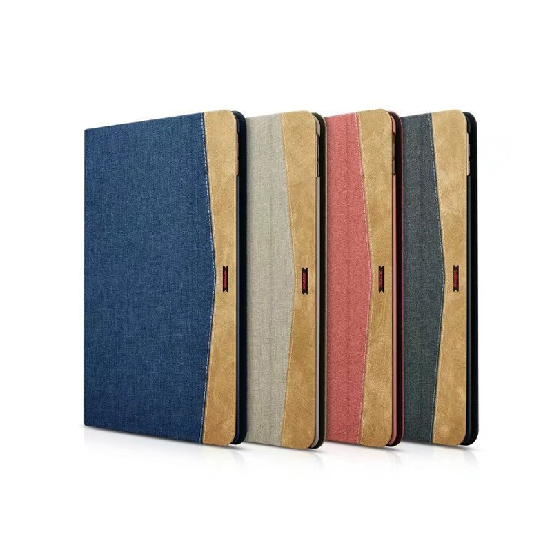 Top Grade Simple Canvas Leather Case For Apple IPad Pro 10 5 Inch Business Foldable Stand