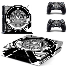 Eye of Providence PS4 Skin Sticker Decal Vinyl for Sony Playstation 4 Console and 2 Controllers PS4 Skin Sticker