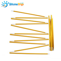 121301 2pcs Set Camping Tent Pole Aluminum Alloy Tent Rod Spare Replacement 8 5mm Tent Support