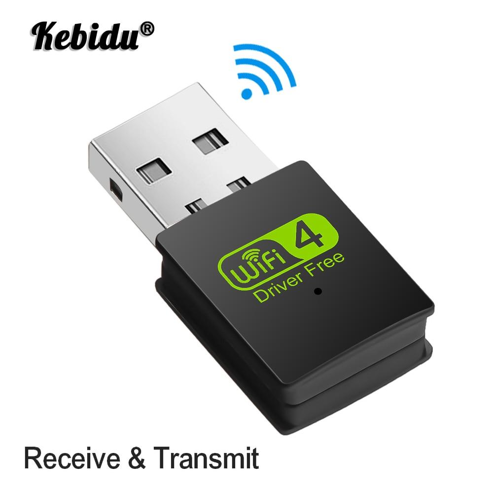 Мини-роутер Kebidu 300 Мбит/с, 2,4 ГГц, беспроводной интернет, USB 2,0, бустер сигнала, сетевая карта 802,11 b/g/n, Wi-Fi Dongle, лвсе-приемник