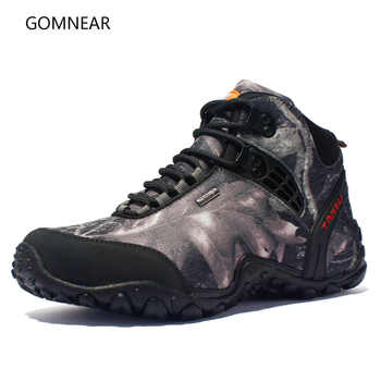 GOMNEAR New Men Hiking Shoes Waterproof Canvas Anti-skid Wear resistant breathable Shoe Trekking Tourism fishing climb Sneakers - DISCOUNT ITEM  51% OFF Sports & Entertainment
