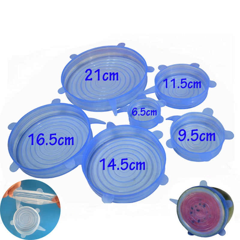 Stretchable Lids Cover Food Silicone Kitchen Picnic Outdoor Easy to Use Reusable Multi Purpose Convenient