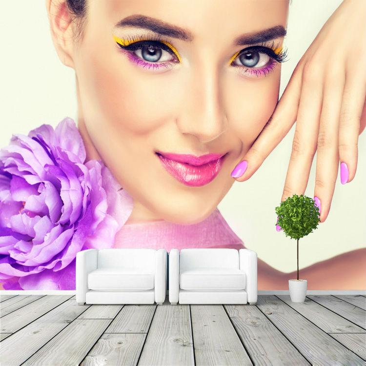 Hair Salon Wallpaper Border - WallpaperSafari  |Beauty Salon Wallpaper Designs