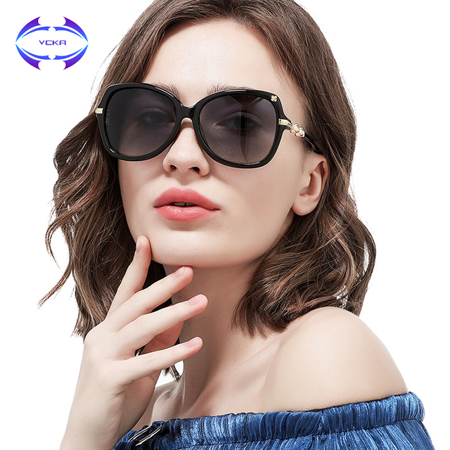 45aac2bfa2 VCKA Sunglasses Women Polarized Reflective Classic wealthy Sun Glasses Alloy  Legs Elegant Style Drive Original Designer