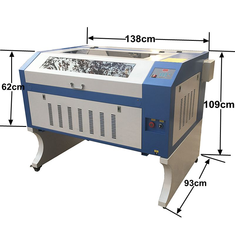 Free Shipping TS6090 CO2 Laser Engraver Cutter Machine CE 80W 90W 100W Cnc Laser Machine Laser Stamp Engraver Machine