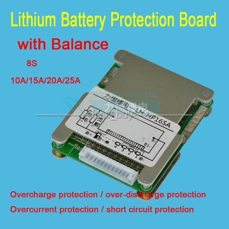 8S 24V LifePO4 Lithium 15A/20A/25A Charger Battery Protection Board with Balance Function 3.2V 8S 24V LifePO4 Lithium 15A/20A/25A Charger Battery Protection Board with Balance Function 3.2V