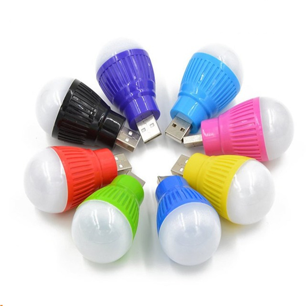 PVC 5V USB Bulb Light portable Lamp LED for hiking camping Tent travel Work With