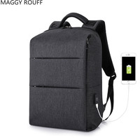 Men Backpack 17 Inch Laptop Backpack Large Capacity Student School Bag Anti Theft USB Headset Dual