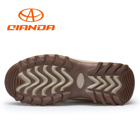 QIANDA Profession Men Mountain Hiking Shoes Winter Climbing Lace-up Leather Waterproof Outdoor Trekking Boots Brand Sneakers Man Karachi