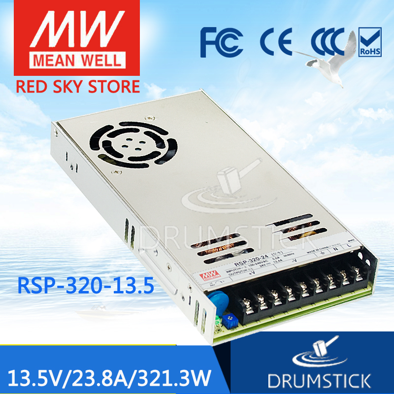 Hot sale MEAN WELL RSP-320-13.5 13.5V 23.8A meanwell RSP-320 13.5V 320.4W with PFC Function Power Supply selling hot mean well rsp 150 27 27v 5 6a meanwell rsp 150 27v 151 2w single output with pfc function power supply