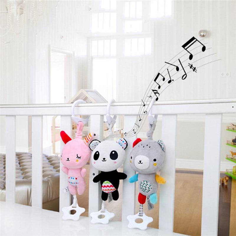 Plush Rattle Toy Hanging Baby Soft Snuggle Toys Crib Stroller Stuffed Animal 1pc