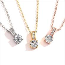 Everoyal Exquisite Zircon Gold Pendant Necklace For Women Jewelry Fashion 925 Silver Girls Choker Accessories Female