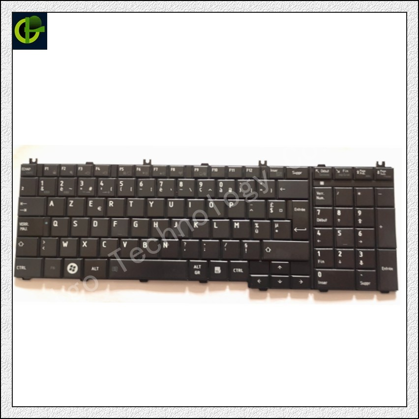French Azerty Keyboard For Toshiba Satellite  C670D-10F C670D-10L C670D-11G C670D-11K C660D-12N C660D-149 C660D-14V C660D-15F FR