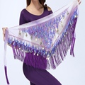 Chiffon Coins Tassels Sequins Triangle Hip Scarf Skirt Belly Dance Costume