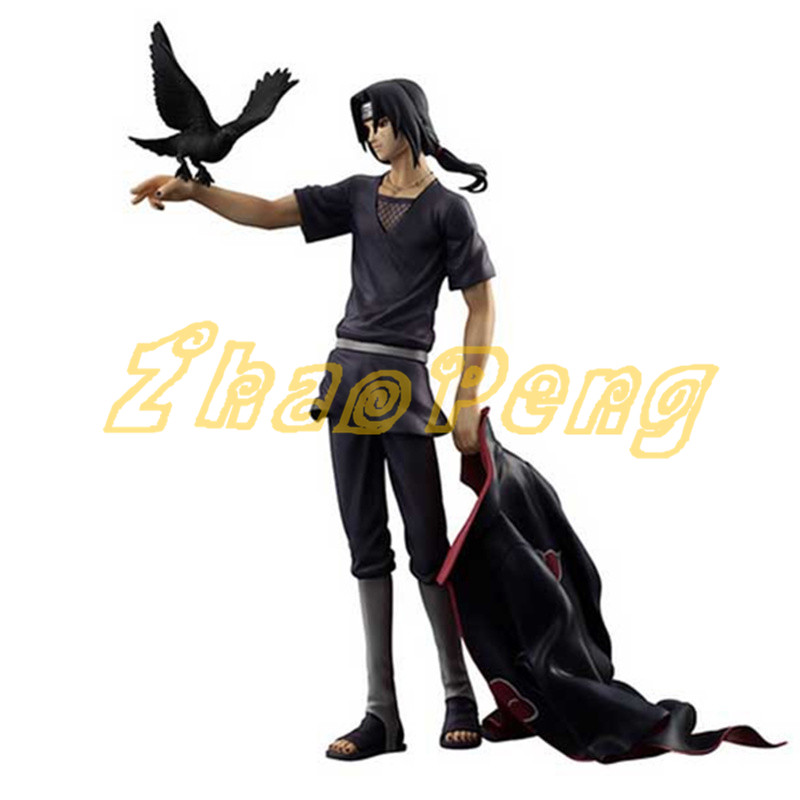 Anime Naruto Itachi Uchiha crow ver action figure Collection Decoration model brinquedos High quality juguetes Akatsuki Toy pu short wallet w colorful printing of naruto shippuden uchiha itachi