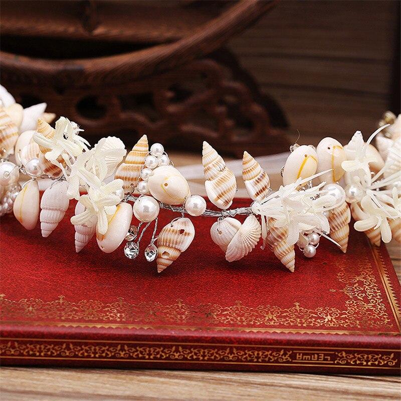 Mode smuk havfrue krans bryllup brude kroner krone hovedbånd hår - Mode smykker - Foto 5
