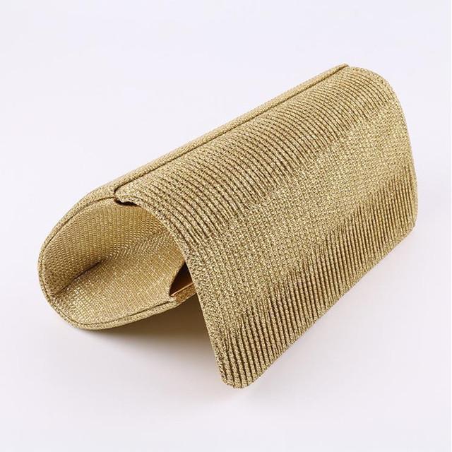 New Arrival Shimmering Evening bag Women Clutch Purse Shiny Handbags Party Wedding Silver Gold Black HBF41