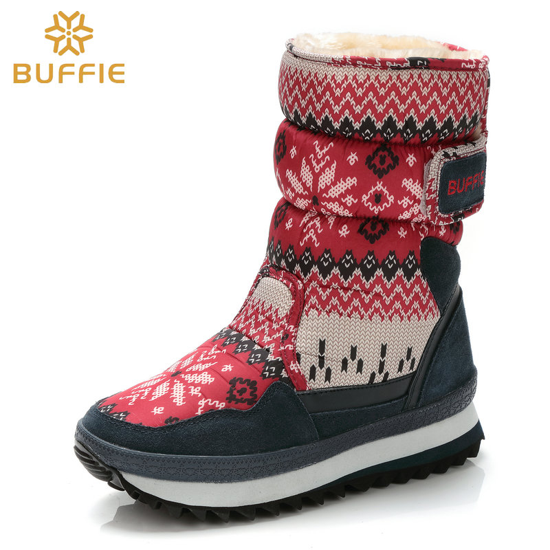Footwear For Children Snowflake Shoe Girls Winter Boots Warm Plush Fur Buckle Style 2019 New Design Style Fabric Upper Free Ship