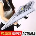LEPIN 05028 Star Wars Execytor Super Star Destroyer Modelo 3250 Kit PcsBuilding arquitetura Bloco Tijolo Compatível 10221 Meninos Gif