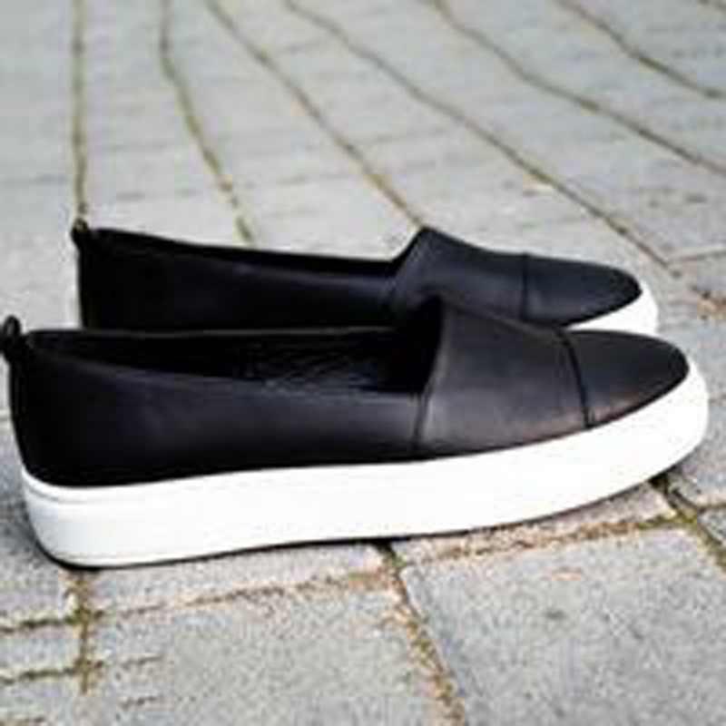 PUIMENTIUA 2019 אביב נשים עור ופרס להחליק על בלט דירות לבן שחור נעלי אישה להחליק על נעלי סירת נעליים מוקסינים