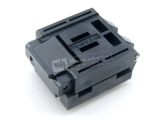QFP48 TQFP48 LQFP48 FPQ-48-0.5-06 Enplas IC Test Burn-in Socket Adapter 0.5Pitch Free Shipping tms320f28335 tms320f28335ptpq lqfp 176